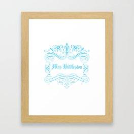 Mrs Hiddleston Framed Art Print