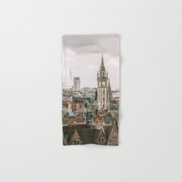Seeing old and new architecture within Brussels cityscape Hand & Bath Towel