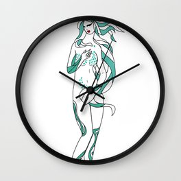 Virgo / 12 Signs of the Zodiac Wall Clock