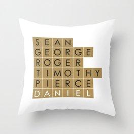 My favorite James Bond is... Daniel Craig Throw Pillow