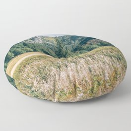 Late Summer Mountain Landscape - Tatry Poland - Mountains and Valley Floor Pillow