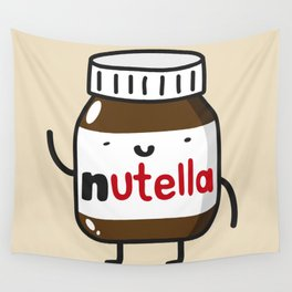 HAPPY NUTELLA IS HAPPY Wall Tapestry