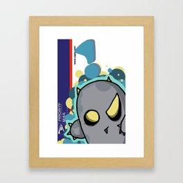 Spikey Graff Framed Art Print