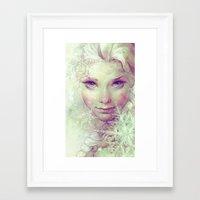 elsa Framed Art Prints featuring Elsa by Anna Dittmann