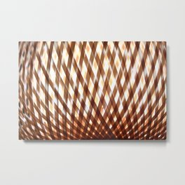 Wicker glowing background Metal Print