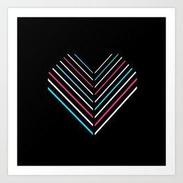 Transcend Neon Heart Art Print