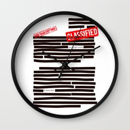 Censored text (Classified information) Wall Clock
