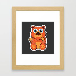 Fire Bear Framed Art Print
