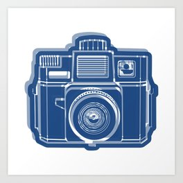 I Still Shoot Film Holga Logo - Blue Art Print