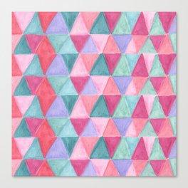 pastel triangle pattern Canvas Print