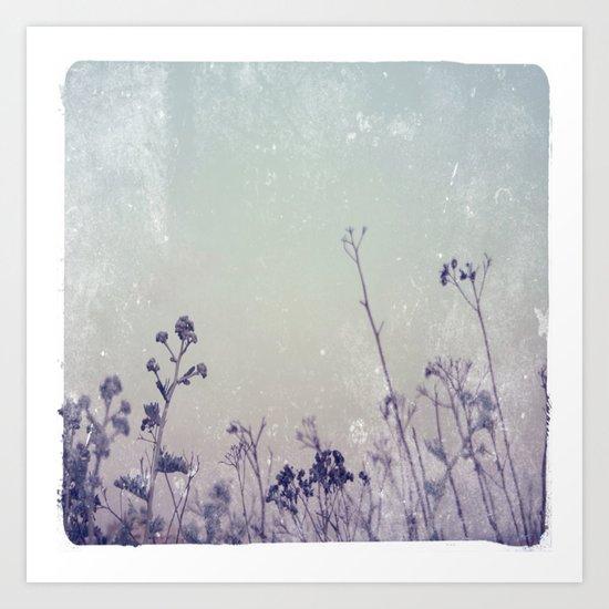 Landscape 1 (blue tones) Art Print