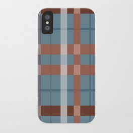 Urban Earth Tone Plaid  iPhone Case