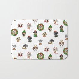 Christmas Puppies Bath Mat