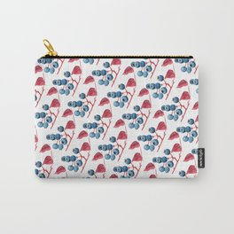 Watercolor Blueberries Carry-All Pouch