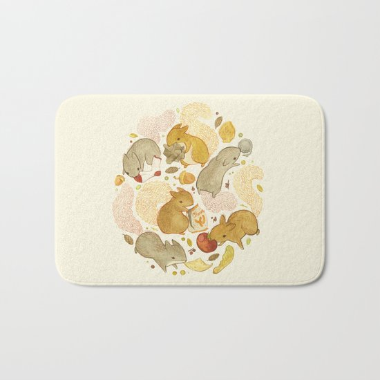 Things Squirrels Probably Shouldn't Be Eating Bath Mat