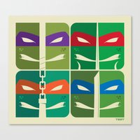 tmnt Canvas Prints featuring TMNT by Szoki