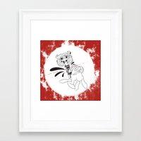 gore Framed Art Prints featuring gore horse by kairbear