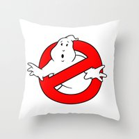 ghostbusters Throw Pillows featuring ghostbusters by tshirtsz