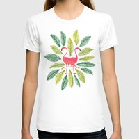 flamingos T-shirts featuring Flamingos by Cat Coquillette