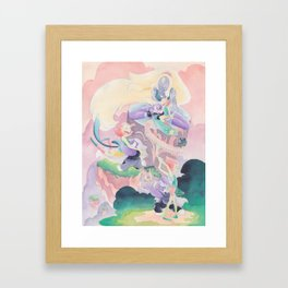 The Person We Are Together - Pearl, Amethyst, Opal Framed Art Print