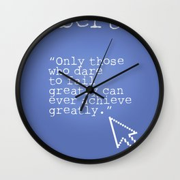 Robert F. Kennedy quote Wall Clock