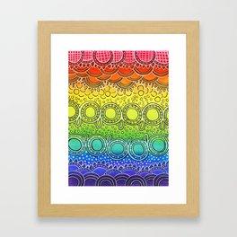 Rainbow Doodle Framed Art Print
