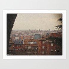 Old postcard of modern Madrid Art Print