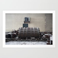 Dismantled Turbine Art Print