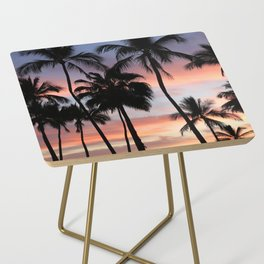 Tropical Palm Trees Sunset in Mexico Side Table
