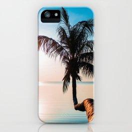 Tropic sunset iPhone Case