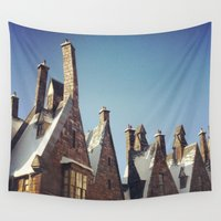 harry potter Wall Tapestries featuring Harry Potter Hogsmeade by b4lt1m0re