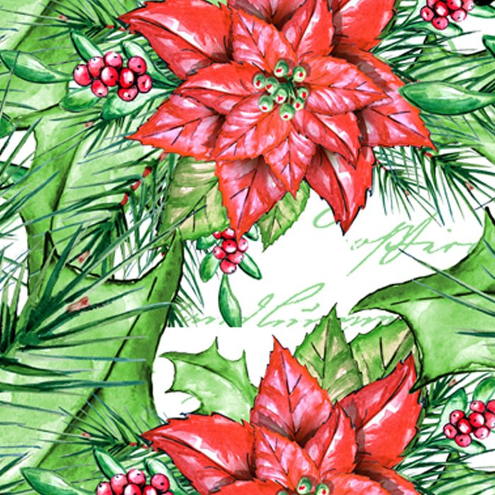 Poinsettia Leggings