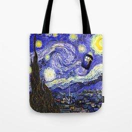 TARDIS STARRY NIGHT Tote Bag