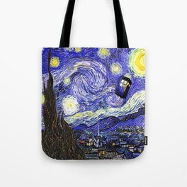 TARDIS STARRY NIGHT Tote Bag