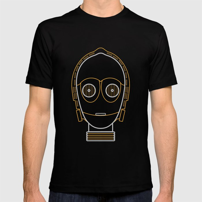 Illustration to line. c3po T-shirt