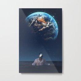 The Earth Head by GEN Z Metal Print