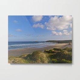 Gwithian Beach, Cornwall Metal Print