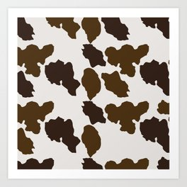 Cowhide Pattern Art Print