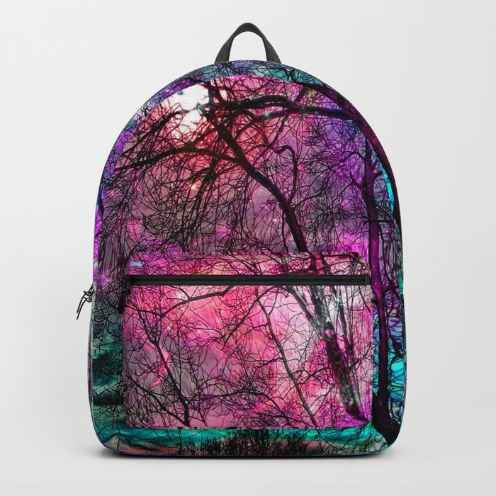 Purple teal forest Backpack