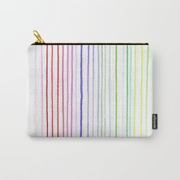 RAINBOW WATERCOLOR LINES Carry-All Pouch