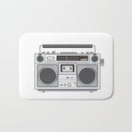 Vintage Portable Radio Cassette Player Retro Bath Mat