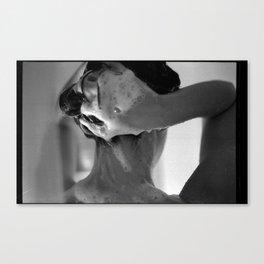 Woman Showering, 35mm Film, B&W Canvas Print