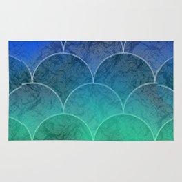Abstract Mermaid Scales Rug