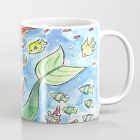 little mermaid Mugs featuring Little Mermaid by sacari