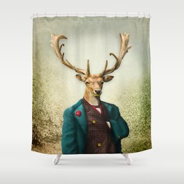 Lord Staghorne in the wood Shower Curtain