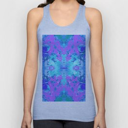 95 - Ice colour abstract pattern Unisex Tank Top