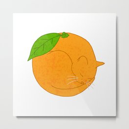 Orange Cat Metal Print