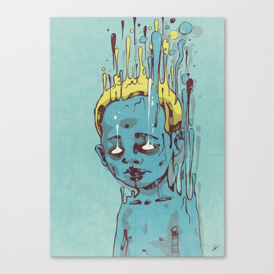 The Blue Boy with Golden Hair Canvas Print