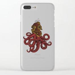 Scuba Octopus | Deep-Sea Diving Clear iPhone Case