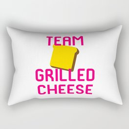 Team Grilled Cheese Foodie Quote Rectangular Pillow